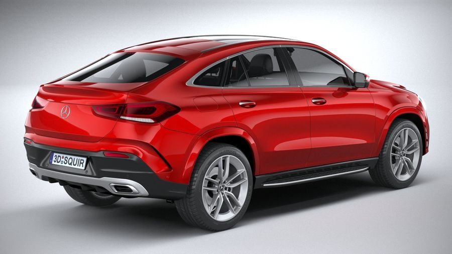 Mercedes-Benz GLE Coupe AMG 2020 royalty-free 3d model - Preview no. 18