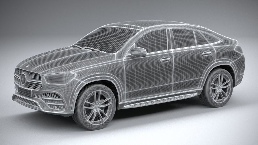 Mercedes-Benz GLE Coupe AMG 2020 royalty-free 3d model - Preview no. 27