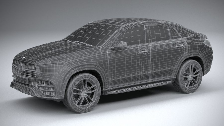 Mercedes-Benz GLE Coupe AMG 2020 royalty-free 3d model - Preview no. 29