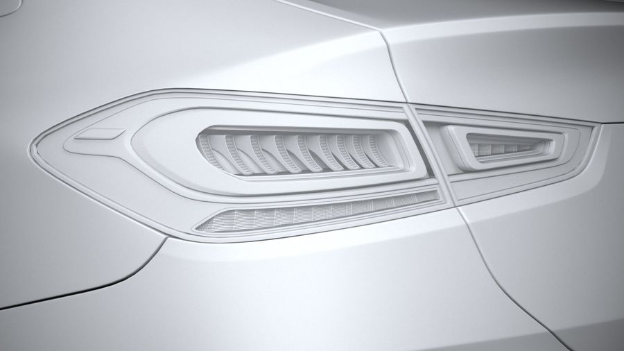 Mercedes-Benz GLE Coupe AMG 2020 royalty-free 3d model - Preview no. 25
