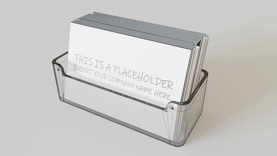 Titular do cartão de visita royalty-free 3d model - Preview no. 10