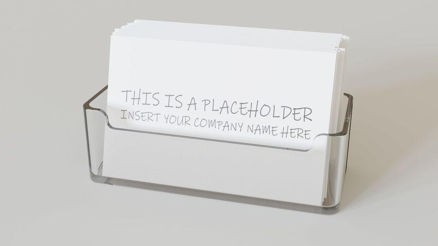 Titular do cartão de visita royalty-free 3d model - Preview no. 2
