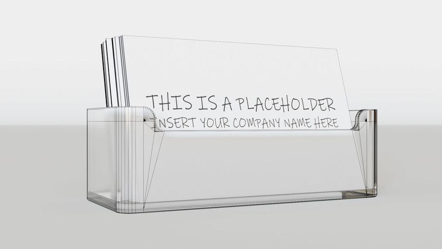 Titular do cartão de visita royalty-free 3d model - Preview no. 9
