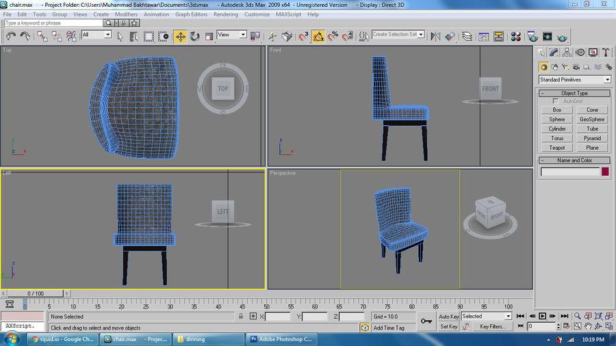 식사 의자 royalty-free 3d model - Preview no. 5