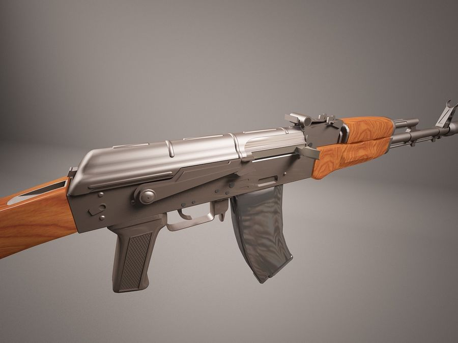AK47 royalty-free 3d model - Preview no. 7