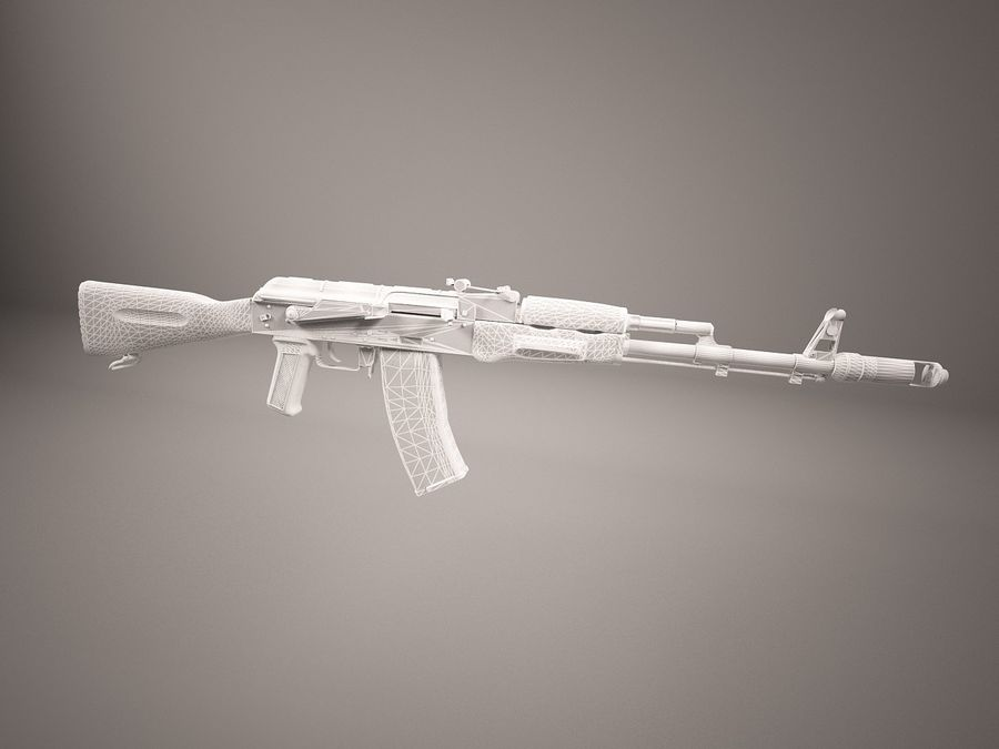 AK47 royalty-free 3d model - Preview no. 8