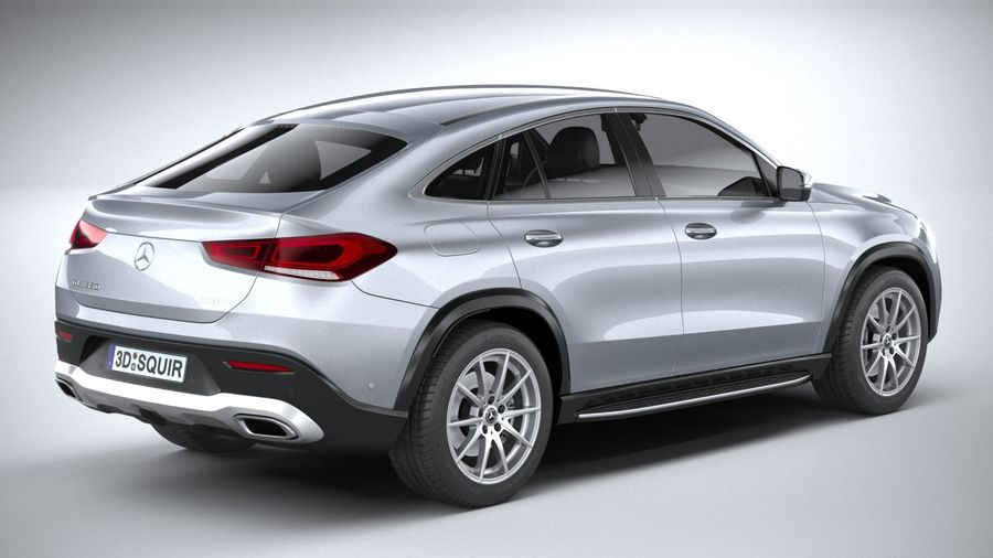 Mercedes-Benz GLE Coupe 2020 royalty-free 3d model - Preview no. 18