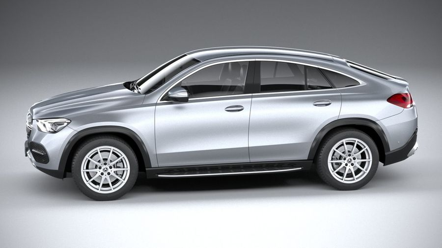 Mercedes-Benz GLE Coupe 2020 royalty-free 3d model - Preview no. 9