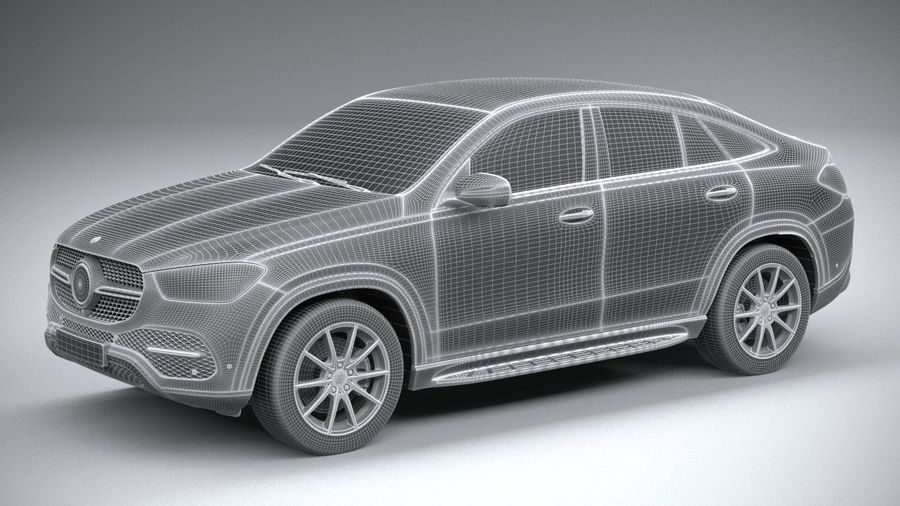 Mercedes-Benz GLE Coupe 2020 royalty-free 3d model - Preview no. 27