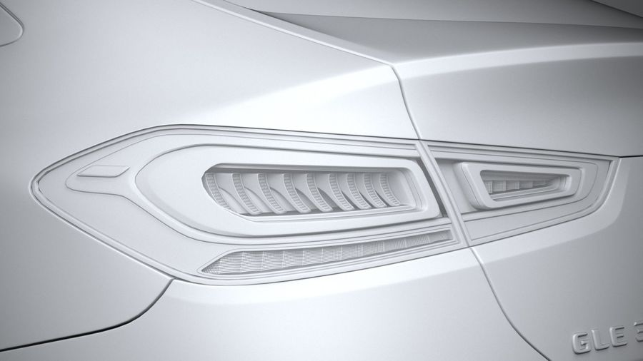 Mercedes-Benz GLE Coupe 2020 royalty-free 3d model - Preview no. 25
