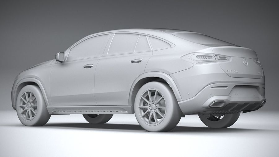 Mercedes-Benz GLE Coupe 2020 royalty-free 3d model - Preview no. 22