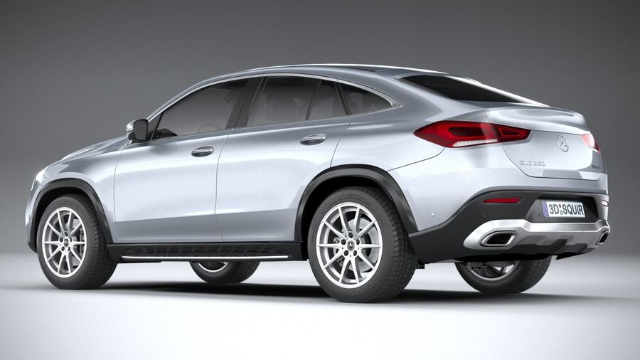 Mercedes-Benz GLE Coupe 2020 royalty-free 3d model - Preview no. 6