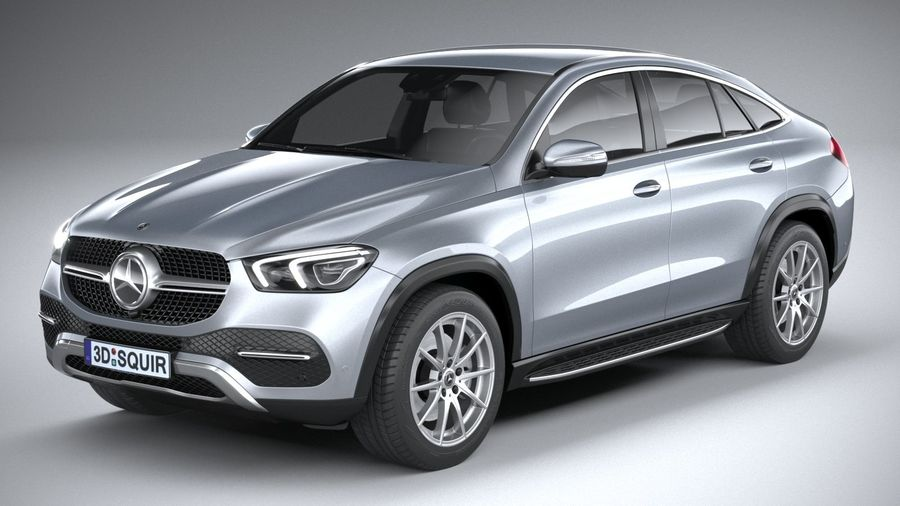 Mercedes-Benz GLE Coupe 2020 royalty-free 3d model - Preview no. 2