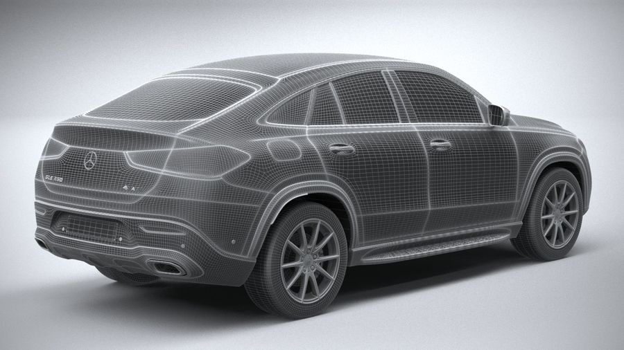Mercedes-Benz GLE Coupe 2020 royalty-free 3d model - Preview no. 28