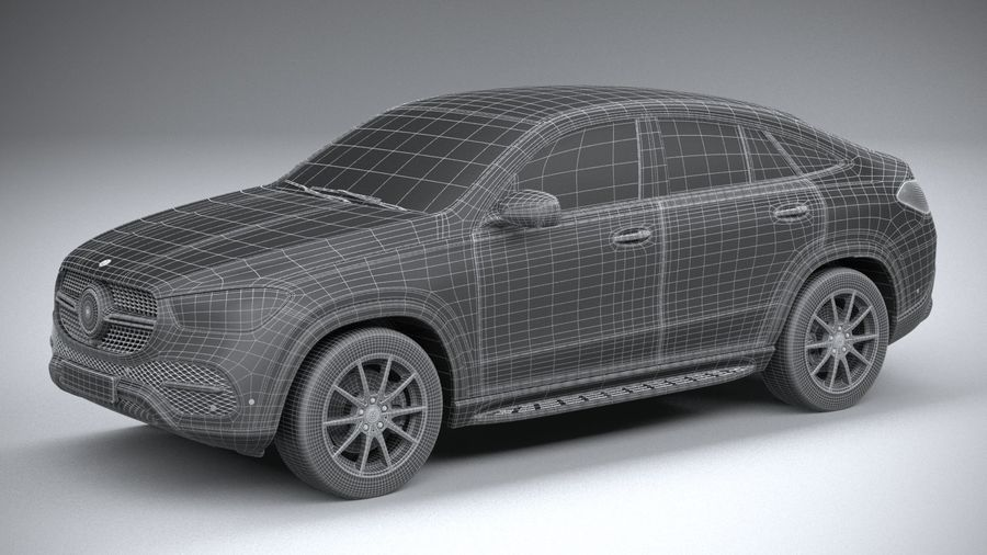 Mercedes-Benz GLE Coupe 2020 royalty-free 3d model - Preview no. 29
