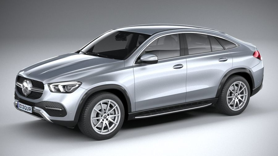 Mercedes-Benz GLE Coupe 2020 royalty-free 3d model - Preview no. 1
