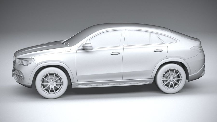 Mercedes-Benz GLE Coupe 2020 royalty-free 3d model - Preview no. 23