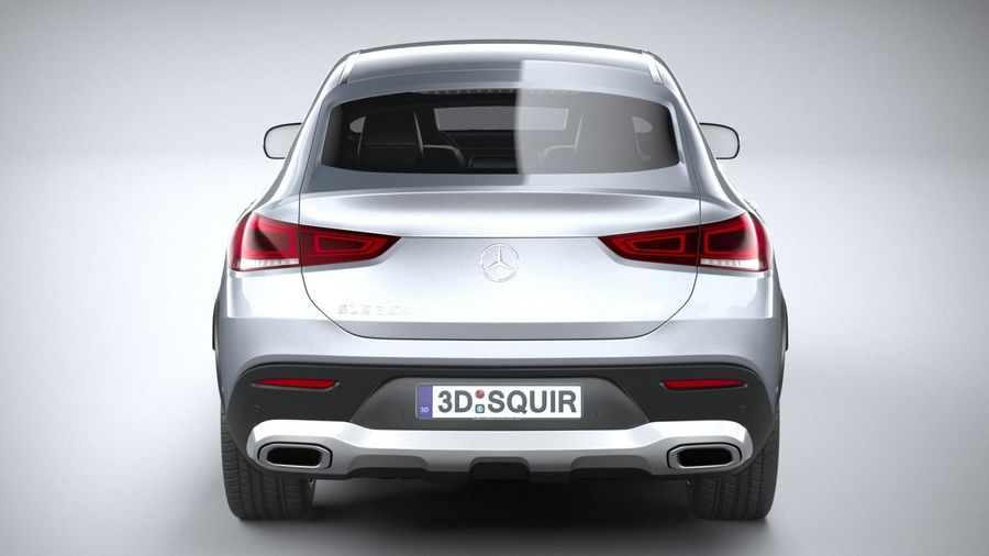 Mercedes-Benz GLE Coupe 2020 royalty-free 3d model - Preview no. 5