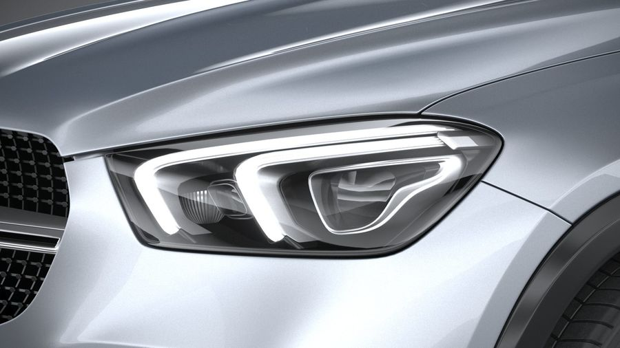 Mercedes-Benz GLE Coupe 2020 royalty-free 3d model - Preview no. 15