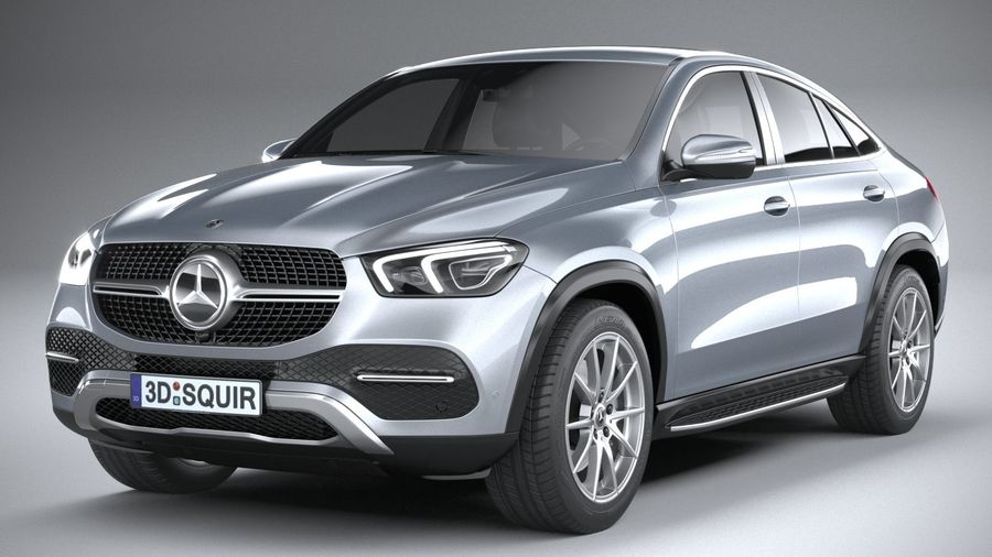 Mercedes-Benz GLE Coupe 2020 royalty-free 3d model - Preview no. 3