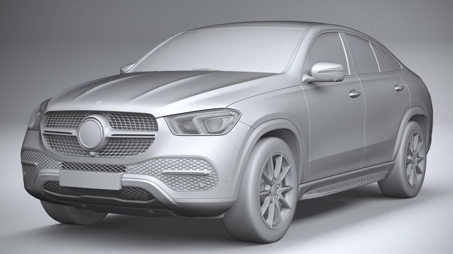 Mercedes-Benz GLE Coupe 2020 royalty-free 3d model - Preview no. 21
