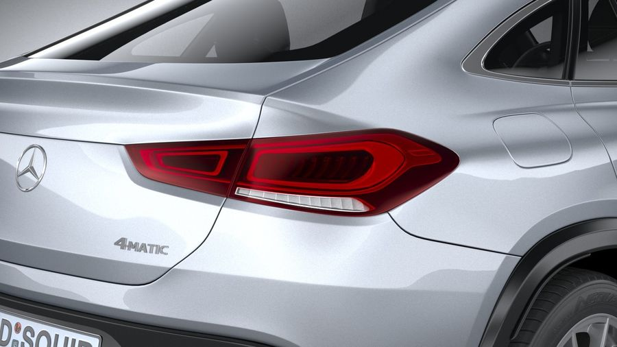 Mercedes-Benz GLE Coupe 2020 royalty-free 3d model - Preview no. 19