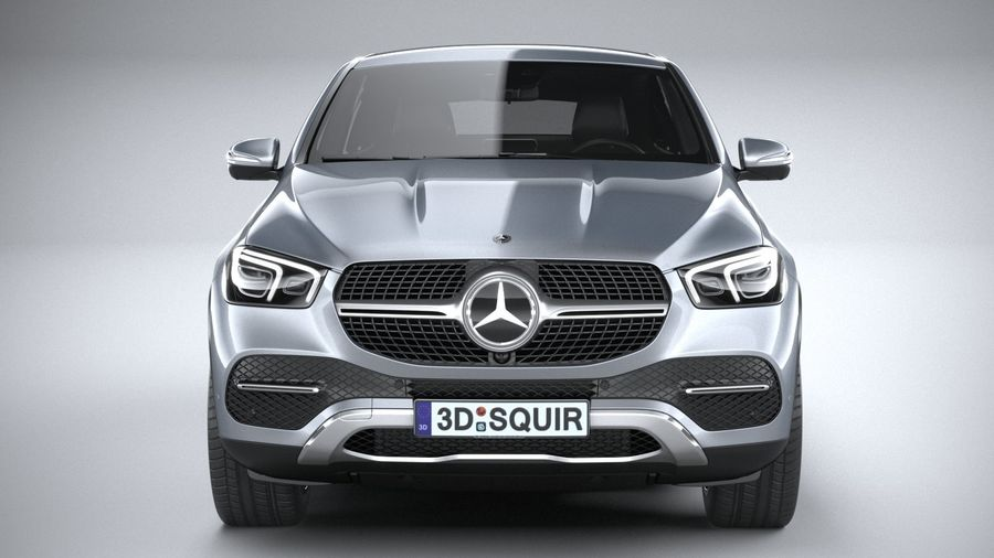 Mercedes-Benz GLE Coupe 2020 royalty-free 3d model - Preview no. 14
