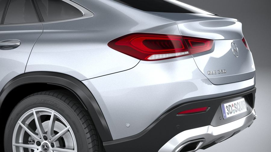 Mercedes-Benz GLE Coupe 2020 royalty-free 3d model - Preview no. 7