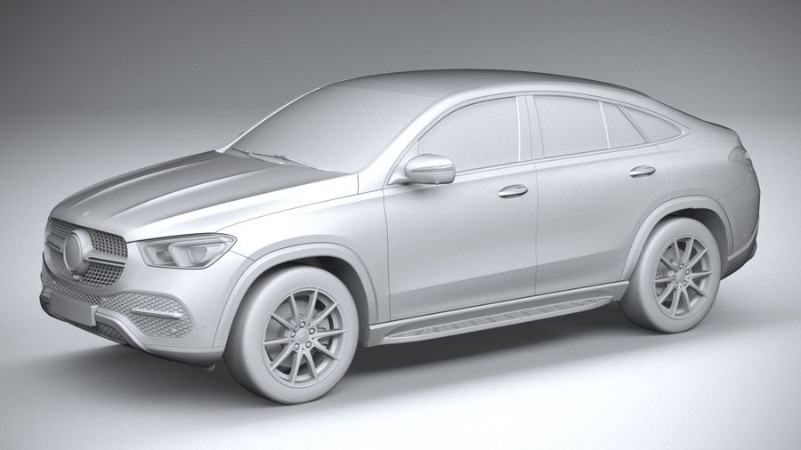 Mercedes-Benz GLE Coupe 2020 royalty-free 3d model - Preview no. 20