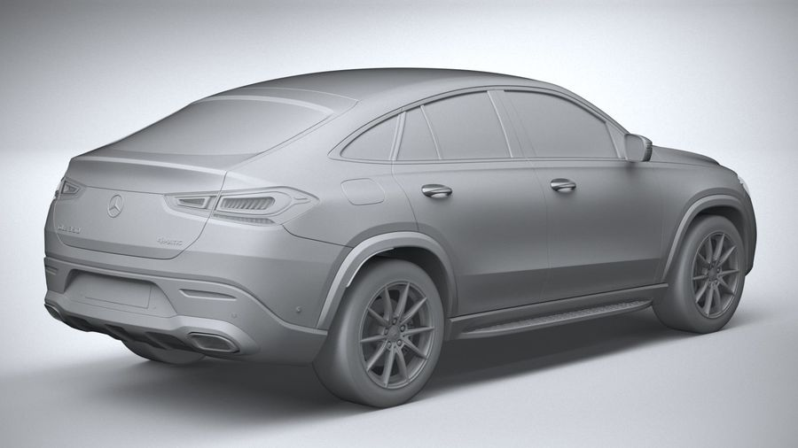 Mercedes-Benz GLE Coupe 2020 royalty-free 3d model - Preview no. 26