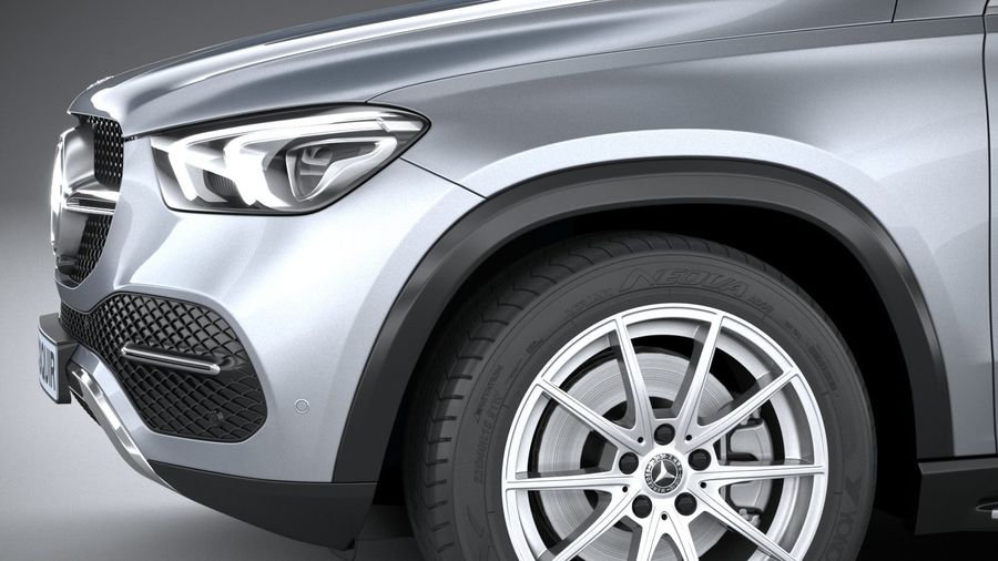 Mercedes-Benz GLE Coupe 2020 royalty-free 3d model - Preview no. 4