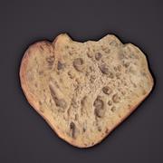 Pezzo di pane mangiato 3d model