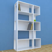 Bücherregal Modern 3d model