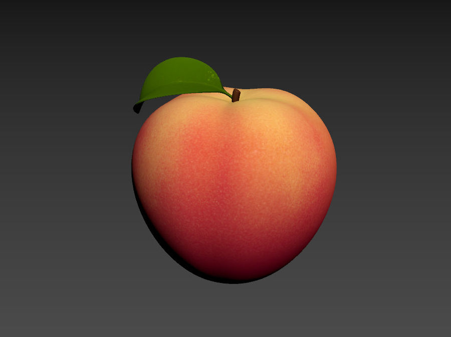 Peach Fruit royalty-free 3d model - Preview no. 10
