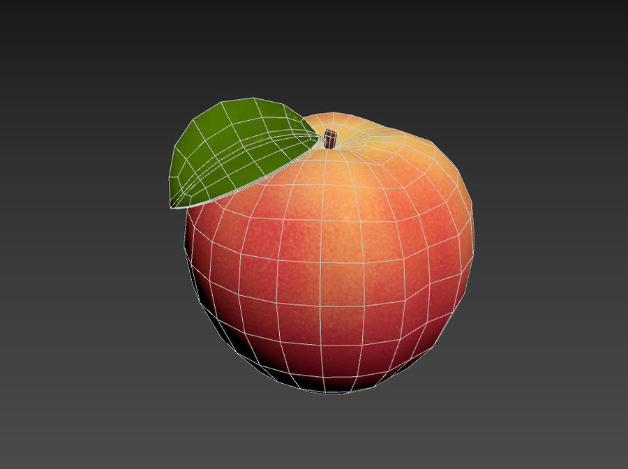 Peach Fruit royalty-free 3d model - Preview no. 12