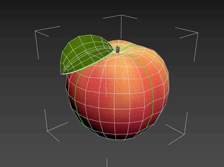 Peach Fruit royalty-free 3d model - Preview no. 13
