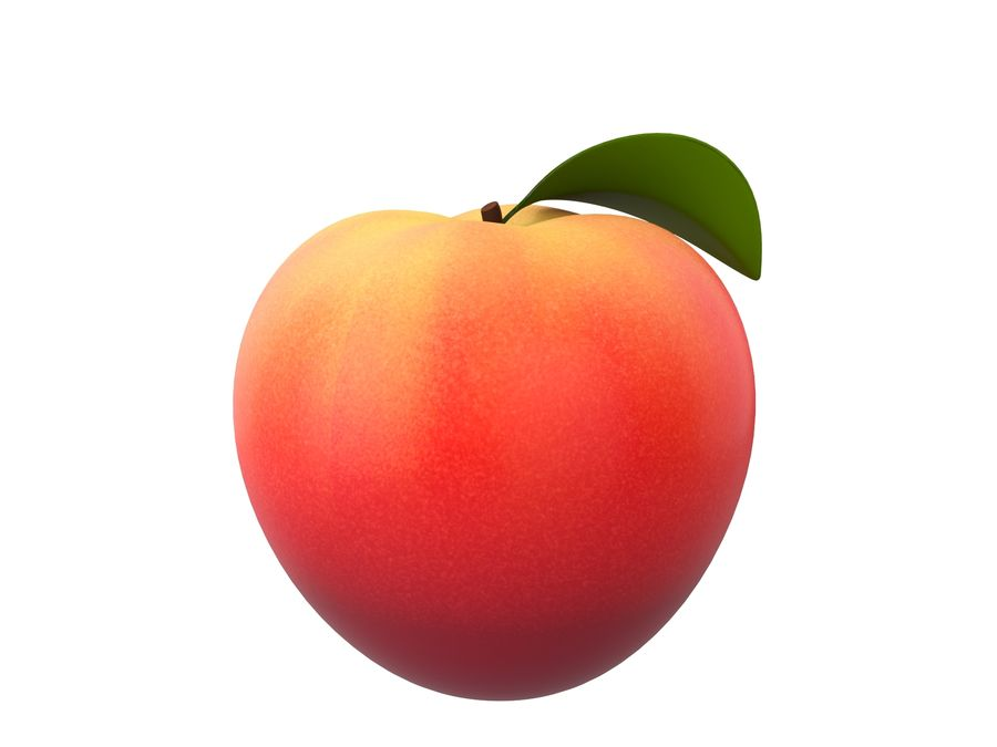 Peach Fruit royalty-free 3d model - Preview no. 4