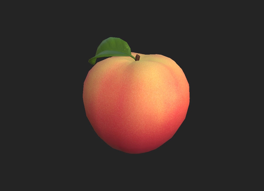 Peach Fruit royalty-free 3d model - Preview no. 5