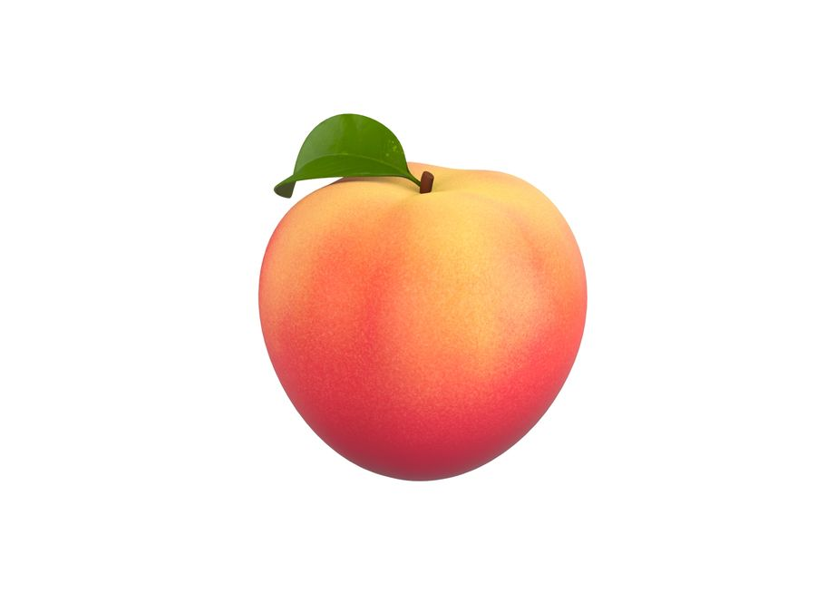 Peach Fruit royalty-free 3d model - Preview no. 1