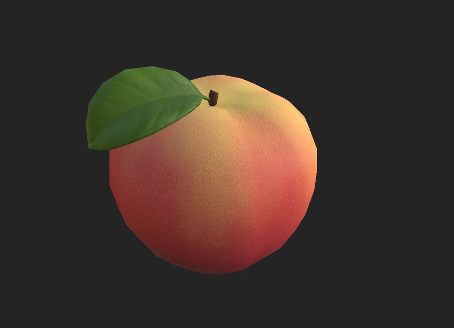 Peach Fruit royalty-free 3d model - Preview no. 8