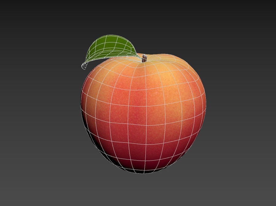 Peach Fruit royalty-free 3d model - Preview no. 11