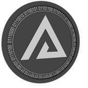 Svart mynt för digital tillgång 3d model