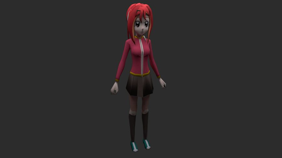 Personaggio anime royalty-free 3d model - Preview no. 1