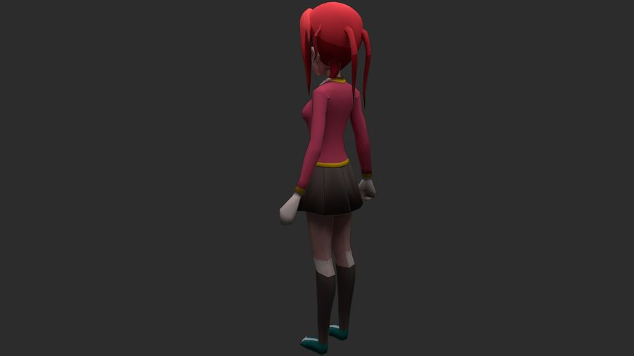 Personaggio anime royalty-free 3d model - Preview no. 3