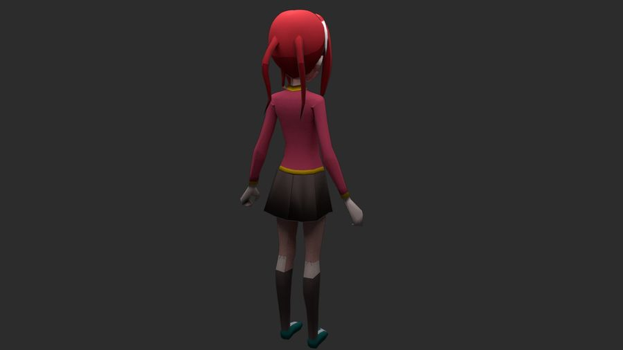 Personaggio anime royalty-free 3d model - Preview no. 2
