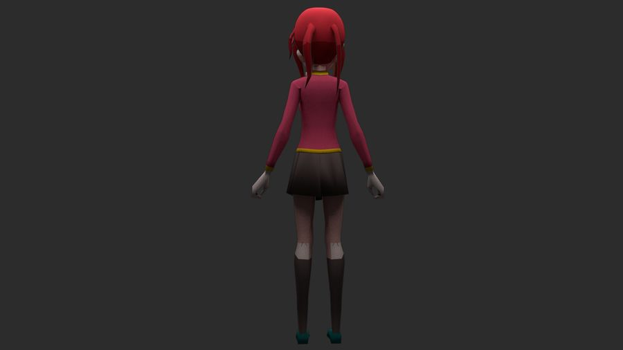 Personaggio anime royalty-free 3d model - Preview no. 5