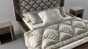 클래식 침대 3d model