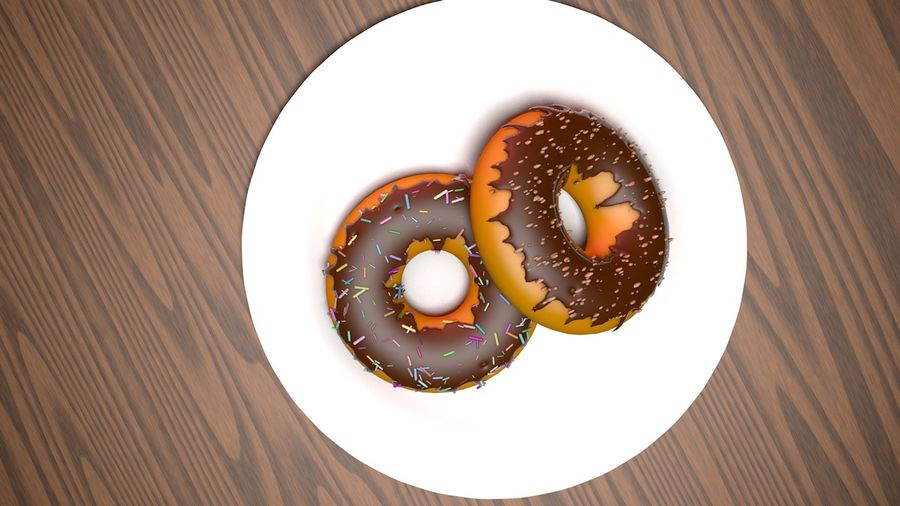 Donut Basic royalty-free 3d model - Preview no. 5