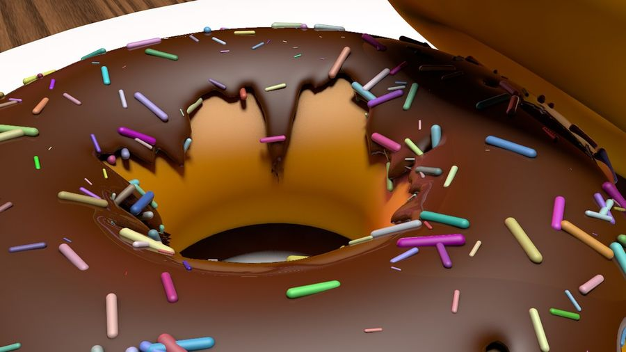 Donut Basic royalty-free 3d model - Preview no. 4