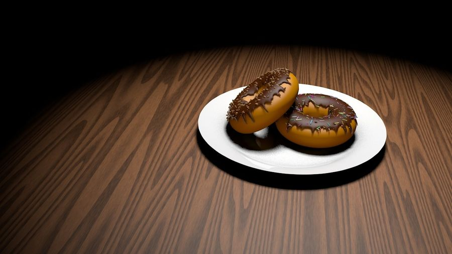 Donut Basic royalty-free 3d model - Preview no. 2